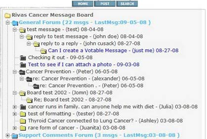 Fully Threaded Message Board