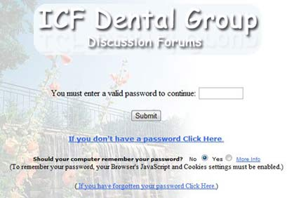 Login Page Message Board